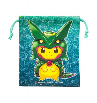 Pokemon Drawstring Bag - Pickachu with Rayquaza Poncho