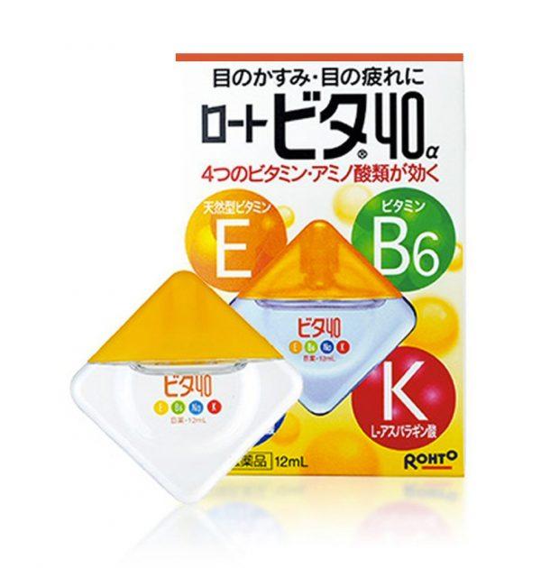 ROHTO VITA Vitamin 40a Eye Drops - 12ml
