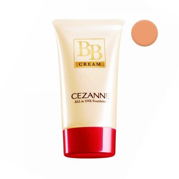 CEZANNE BB Cream All-in-one Foundation SPF 23 PA++ - Ochre 02