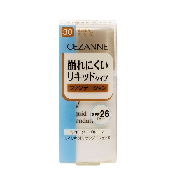 CEZANNE UV Liquid Foundation R Waterproof SPF 26 PA++ - Healthy Ochre 30