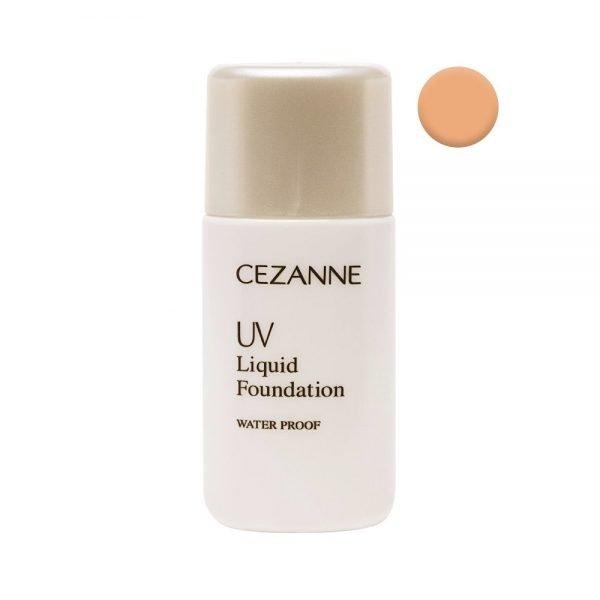 CEZANNE UV Liquid Foundation R Waterproof SPF 26 PA++ - Natural Ochre 20