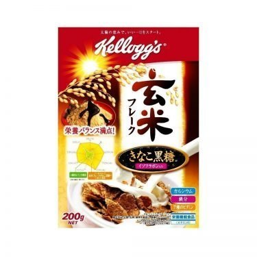JAPAN KELLOGG'S Genmai Flakes Cereal with Kinako & Brown Sugar - 220g