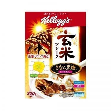 JAPAN KELLOGG'S Genmai Flakes Cereal with Kinako & Brown Sugar - 220g