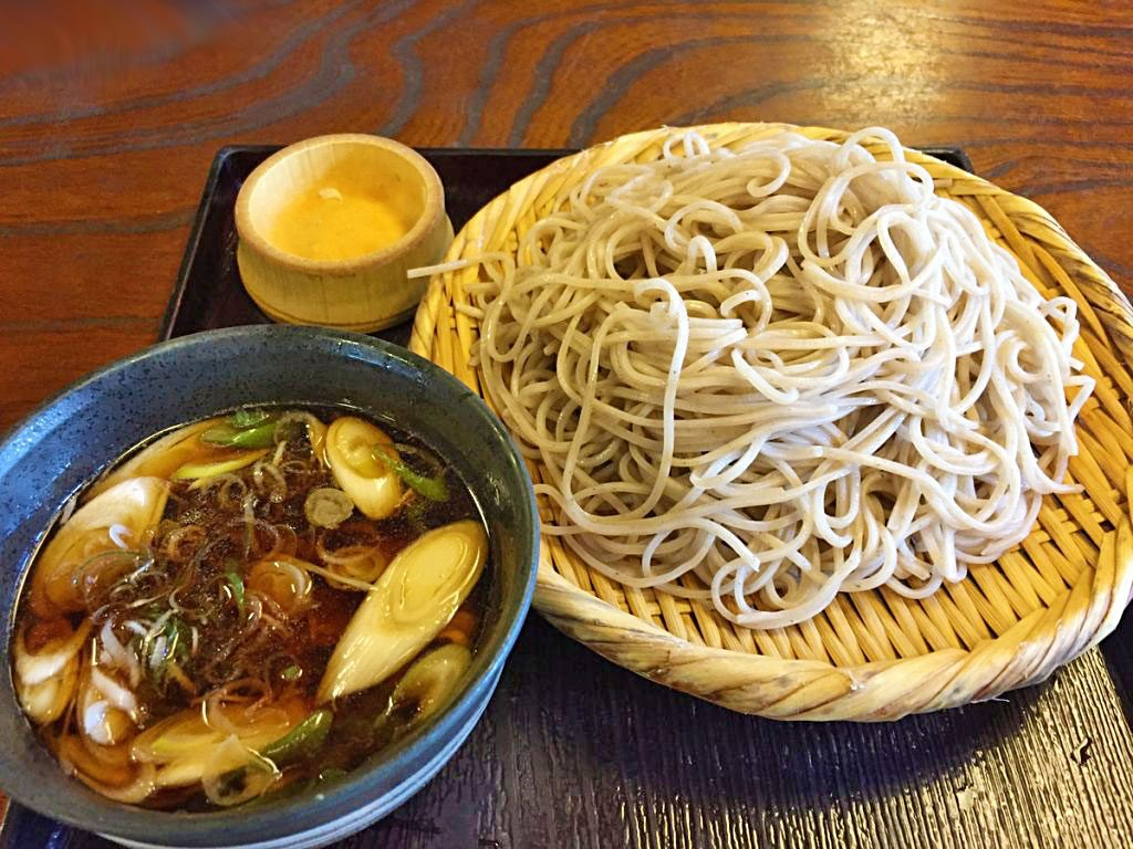 Japanese soba served at the Takayashiya