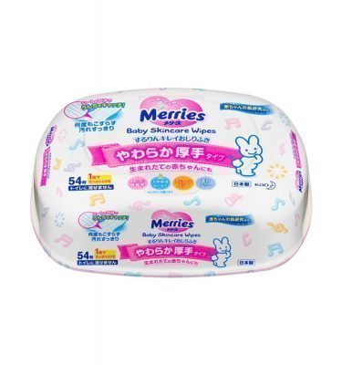 KAO Merries Wipes 54 Sheets Made in Japan