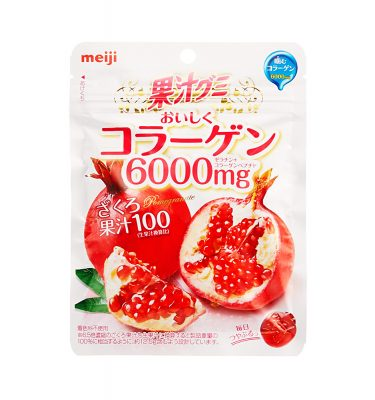 MEIJI Fruit Gumi Gummy Candy Collagen 6000mg - Pomegranate