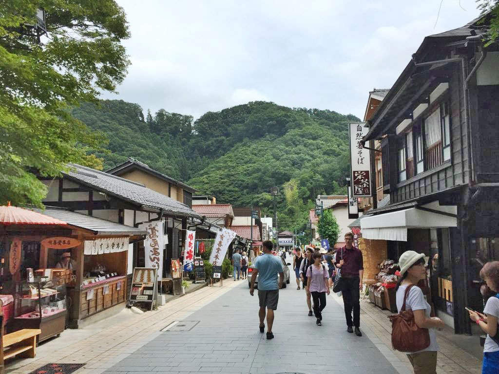 Many great local restaurants at the foot of Mt. Takao