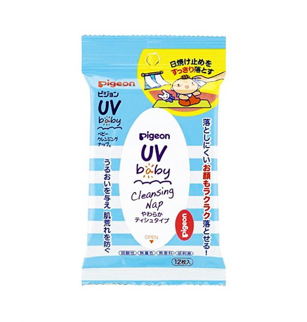 PIGEON Baby Cleansing Nap Wipes - 12 Sheets