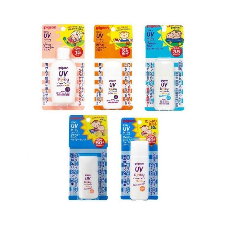 PIGEON UV Baby Milk Waterproof SPF35 PA +++ 30g4