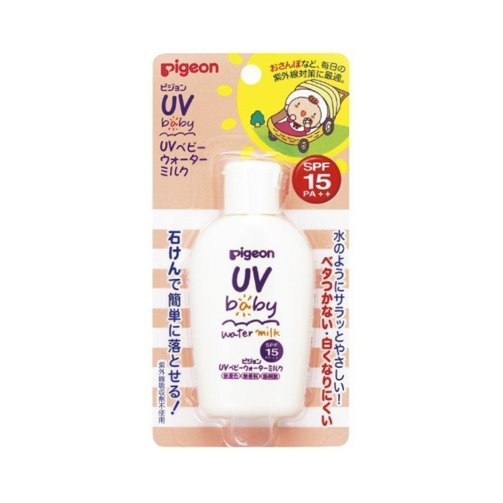 PIGEON UV Baby Milk Waterproof SPF15 PA++ 60g from 0 Month On