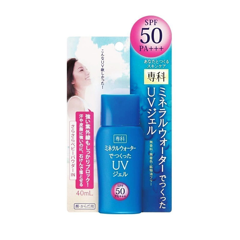 SHISEIDO Senka Sunscreen Mineral Water UV Gel SPF50 PA+++ 40ml