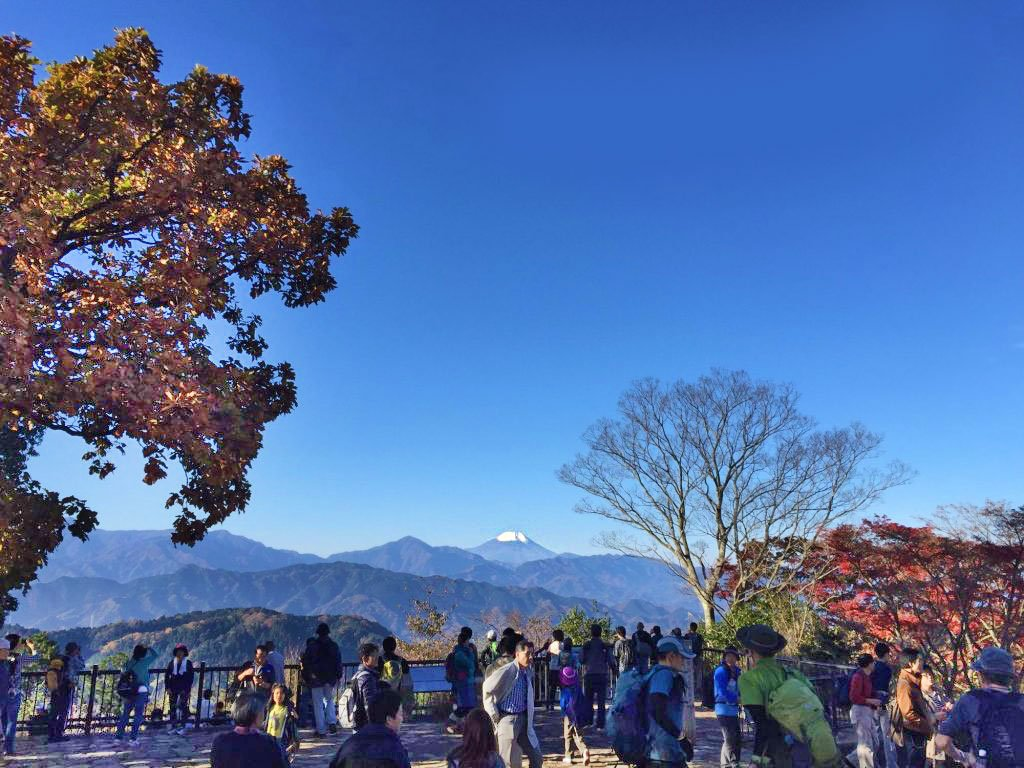 View of Mount Fuji from the Observation Deck at Mt. Takao