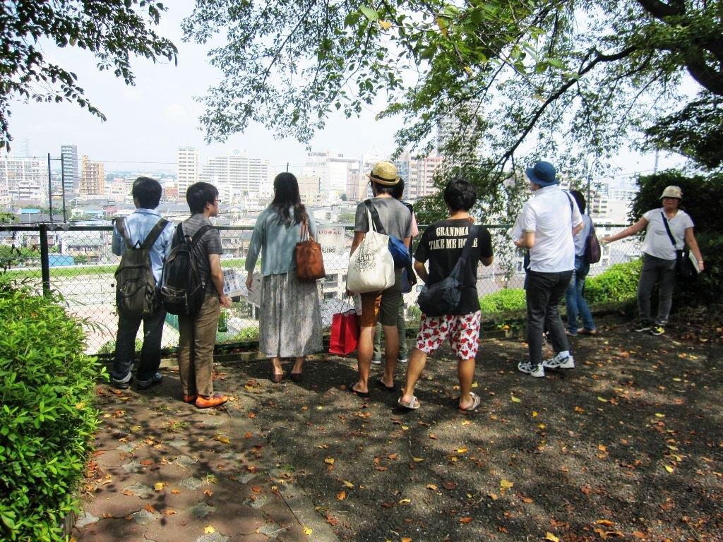 Fans of Whisper of the Heart visiting Seiseki Sakuragaoka