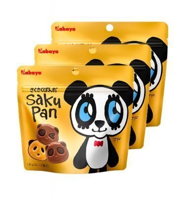 KABAYA Sakusaku Panda Milk Chocolate Biscuits Made in Japan