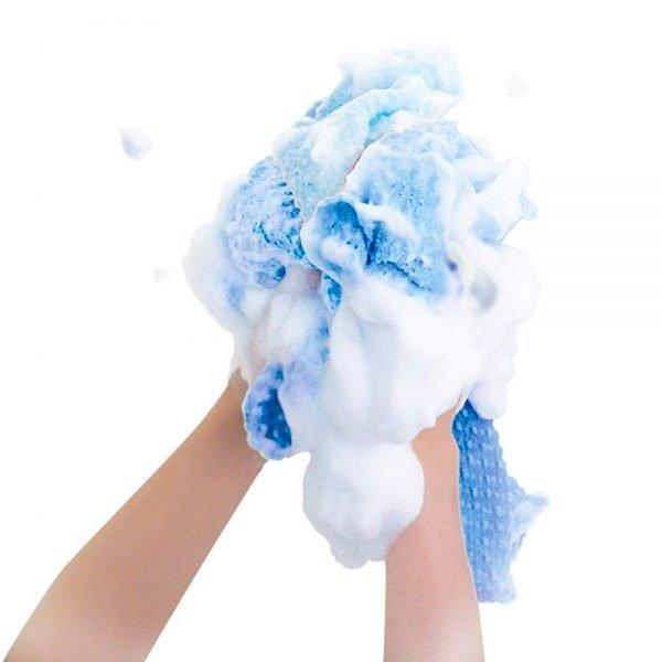 KIKURON Foam Star Bath Body Wash Cloth Towel Hard Made in Japan