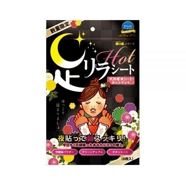KINOMEGUMI HONPO Ashirira Foot Relax Sheet - Hot Warm 6pcs