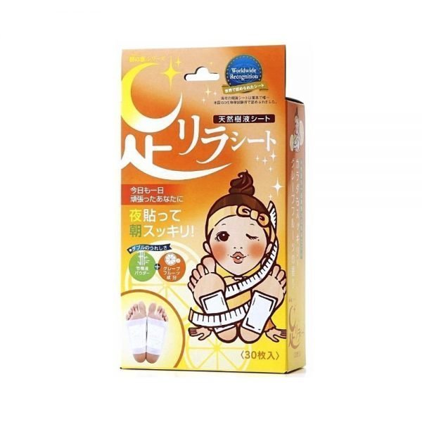 KINOMEGUMI HONPO Ashirira Foot Relax Sheet - Grapefruit 30pcs