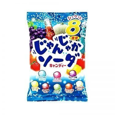LION Janjyaka Noisy 8-Flavor Soda Hard Candy - 112g