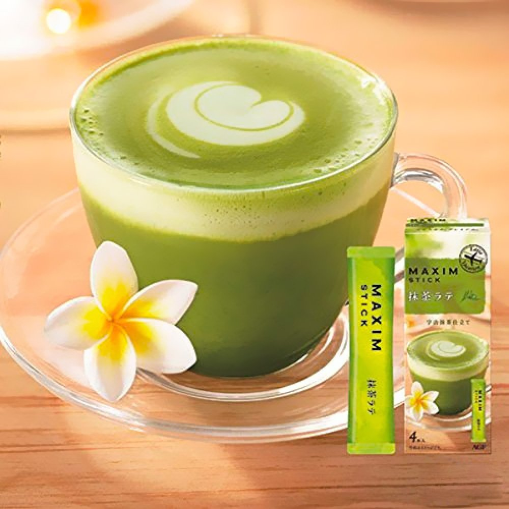 AGF Maxim Stick Uji Matcha Latte 4 Sticks
