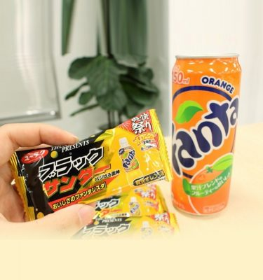 BLACK THUNDER Mini Chocolate Bar - Orange Fanta Taste Limited Version x 5pcs