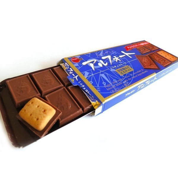 BOURBON Alfort Chocolate Cookie Japanese Original Blue