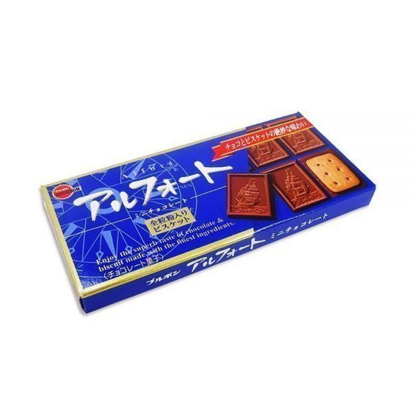 BOURBON Alfort Chocolate Cookie Original Blue Made in Japan