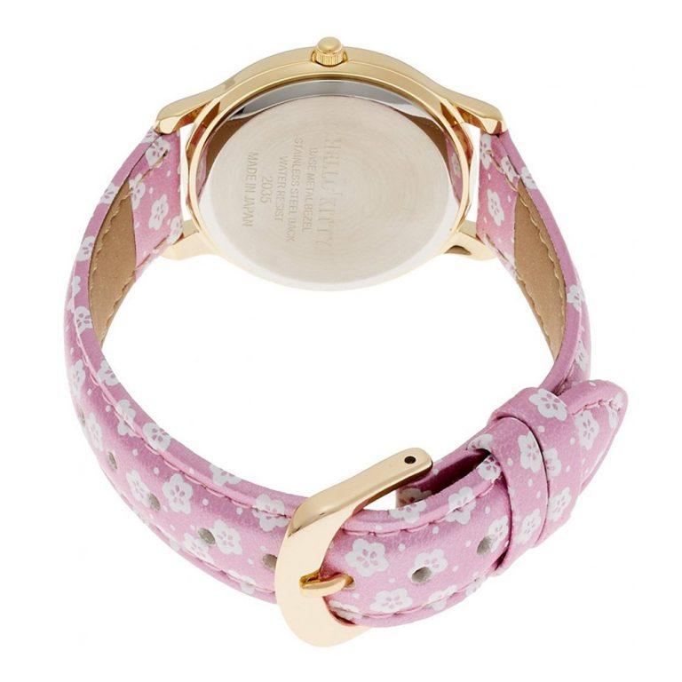 CITIZEN Q&Q Hello Kitty Wrist Watch with Leather Belt - Sakura & Lucky CatCITIZEN Q&Q Hello Kitty Wrist Watch with Leather Belt - Sakura & Lucky Cat