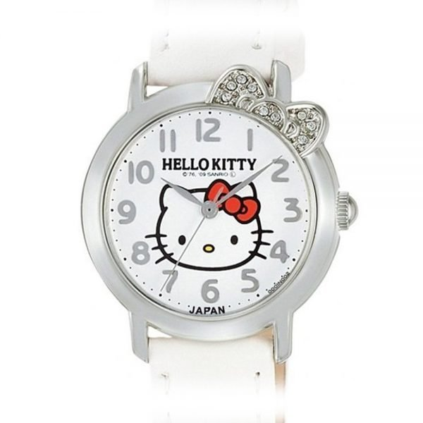 CITIZEN Q&Q Hello Kitty White Watch - Stone Ribbon