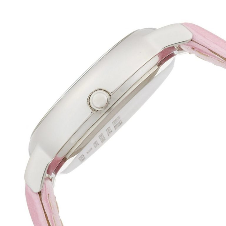 CITIZEN Q&Q Hello Kitty Wrist Watch with Leather-Like Belt - Pink & Silver