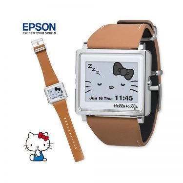 EPSON Hello Kitty Smart Canvas Watch - White