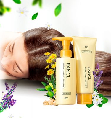 FANCL Mild Cleansing Shampoo & Repair Essence Treatment Made in Japan