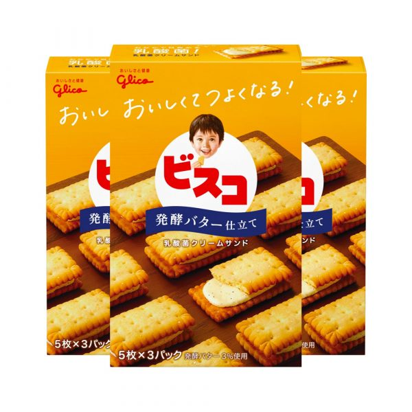 GLICO Bisco Butter Flavour Made in Japan