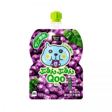 JAPAN COCA COLA Purun Purun Qoo Jelly Drink - Grape 125g