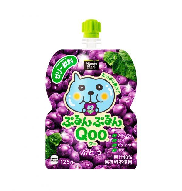 JAPAN COCA COLA Purun Purun Qoo Jelly Drink - Grape 125g