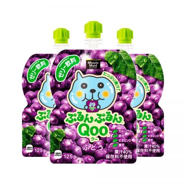JAPAN COCA COLA Purun Purun Qoo Jelly Drink Grape Flavour Made in Japan