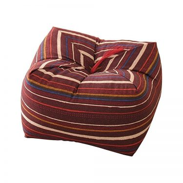 Japanese Sobagara Buckwheat Husk Cushion & Pillow - Dark Red