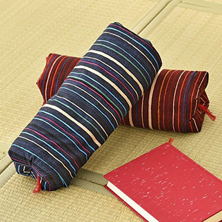 Japanese Sobagara Buckwheat Husk Pillow - Blue