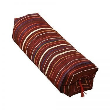 Japanese Sobagara Buckwheat Husk Pillow - Dark Red