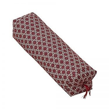 Japanese Sobagara Buckwheat Husk Pillow - Hemp Leaf Red
