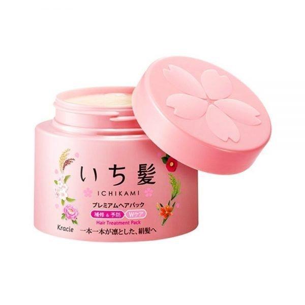 KRACIE Ichikami Premium Hair Treatment Pack Sakura Aroma