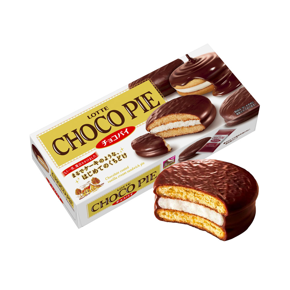 LOTTE Choco Pie Original Chocolate Cream Made in Japan