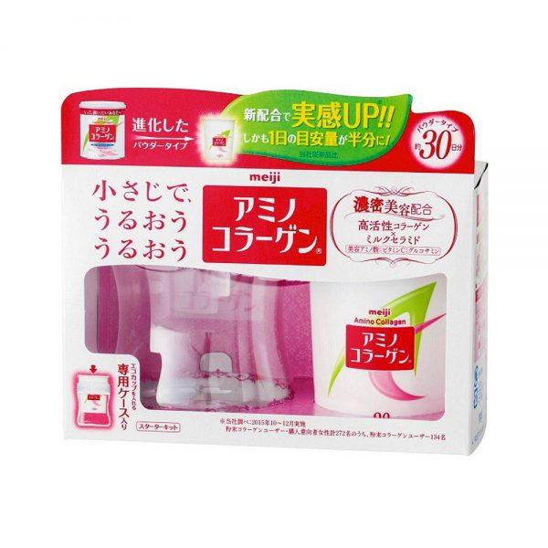 MEIJI Amino Collagen Starter Kit Powder Type - 30 Days with Eco Cup
