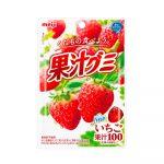 MEIJI Fruit Gumi Gummy Candy Strawberry - 51g