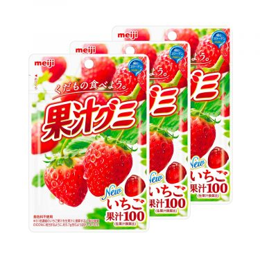 MEIJI Fruit Gumi Gummy Candy Strawberry