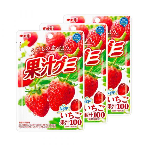 MEIJI Fruit Gumi Gummy Candy Strawberry