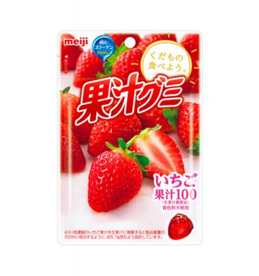MEIJI Fruit Gumi Gummy Candy Strawberry - 51g