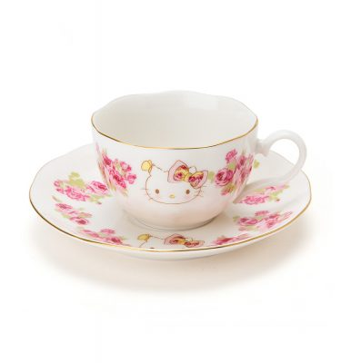 SANRIO Hello Kitty Meets LAURA ASHLEY - Cup & Saucer