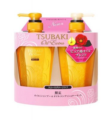 SHISEIDO Tsubaki Oil Extra Smooth Shampoo & Conditioner 500ml - 2016 Autumn Version
