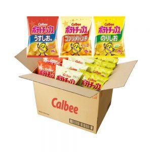 CALBEE Potato Chips Assortment Box - Mild Salt + Consome + Seaweed