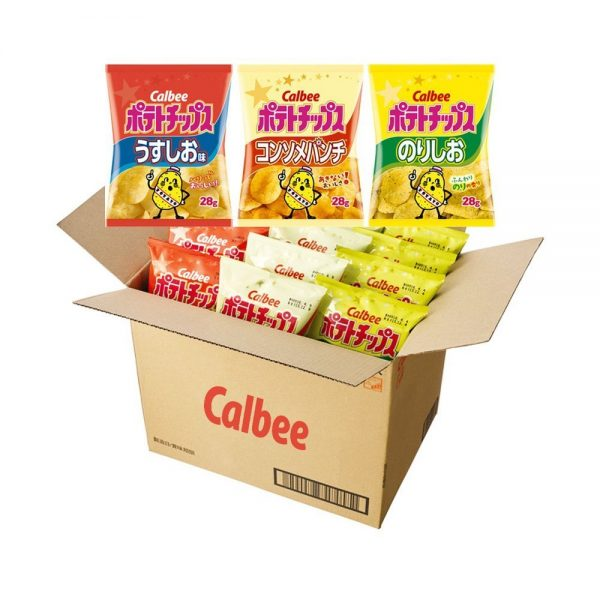 CALBEE Potato Chips Assortment Box - Mild Salt + Consome + Seaweed